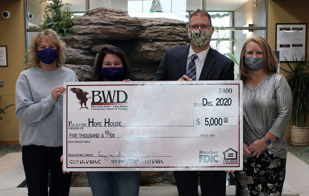Hope House Check Presentation