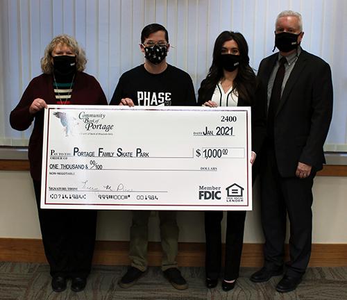 Portage Skate Park Donation Presentation